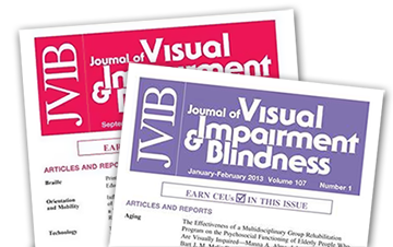 Journal of Visual Impairment and Blindness covers